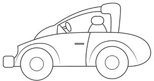 Car with unique style coloring page Royalty Free Stock Images