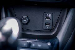 Car usb switcher close up royalty free stock photography
