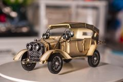 Car used for home decoration. Toy model car used for home decoration on blur background royalty free stock image