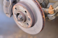Car used vented disc brake Stock Images