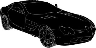 Car Vector 01. Luxury Car High Detail Vector Stock Images