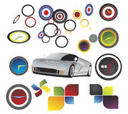 Car - vector elements Stock Images