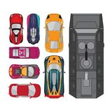 Car vector elements collections set Royalty Free Stock Photography