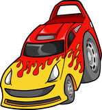 Car Vector Illustration. Racer Street Car Vector Illustration Stock Photo