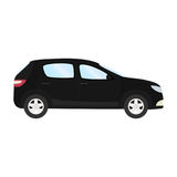 Car vector template on white background. Business hatchback isolated. black hatchback flat style. side view Stock Photography