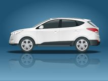 Car vector template on white background. Compact crossover, CUV, 5-door station wagon car. Template vector isolated royalty free illustration