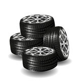 Car vector tires  isolated on white background Royalty Free Stock Image
