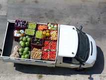 Car with vegetables Royalty Free Stock Image