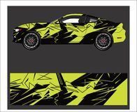 Car And Vehicle abstract racing graphic kit background for wrap and vinyl sticke. Truck,car And Vehicle abstract racing graphic kit background for wrap and vinyl royalty free illustration