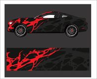 Car And Vehicle abstract racing graphic kit background for wrap and vinyl sticker. Truck,car And Vehicle nabstract racing graphic kit background for wrap and royalty free illustration