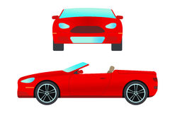 Car vehicle cabriolet transport type design travel race model sign technology style and generic automobile contemporary Royalty Free Stock Image