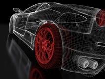Sports car model vector illustration