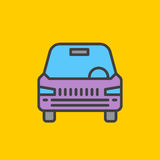 Car, vehicle filled outline icon, line vector sign, flat colorful pictogram. Symbol, logo illustration. Pixel perfect Royalty Free Stock Photography