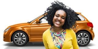 Car Vehicle Hatchback Transportation 3D Illustration Concept Stock Images
