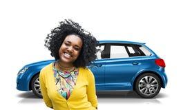 Car Vehicle Hatchback Transportation 3D Illustration Concept Stock Image
