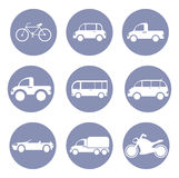 Car or vehicle icon set, for design presentation in  Stock Images
