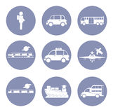 Car or vehicle icon set, transportation concept for design presentation in  Stock Photography