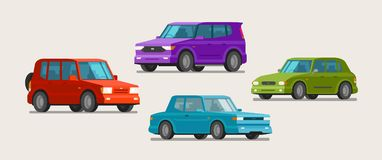 Car, vehicle icons. Transport, parking, dealership concept. Vector illustration. Car, vehicle icons. Transport parking dealership concept Vector Stock Photo
