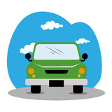 Car vehicle isolated icon Stock Image
