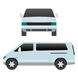 Car vehicle mini van transport type design travel race model sign technology style and generic automobile contemporary Stock Images