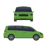Car vehicle mini van transport type design travel race model sign technology style and generic automobile contemporary Stock Image
