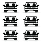 Car vehicle set in black illustration Stock Photo