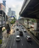The traffic in city, Bangkok Thailand Royalty Free Stock Photography