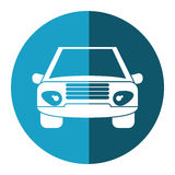 Car vehicle transport front view blue circle Royalty Free Stock Images