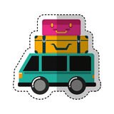 Car vehicle travel with suitcases icon Royalty Free Stock Photo