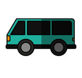 Car vehicle travel with suitcases icon Royalty Free Stock Images