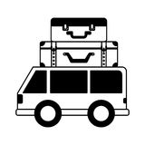 Car vehicle travel with suitcases icon Stock Photography