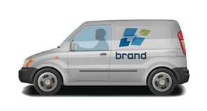 Car, vehicle, van icon. Delivery, cargo transportation, transport, traffic identity. Vector illustration. Car, vehicle, minivan icon. Delivery, cargo stock illustration
