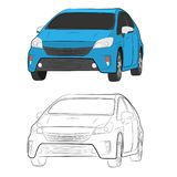 Car vehicle vector drawing illustration eps10 royalty free stock photos