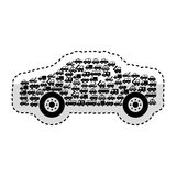 Car vehicle with vehicles silhouette. Vector illustration design Stock Image