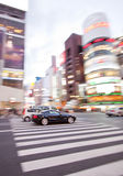 Car Vehicles in motion blur Stock Images