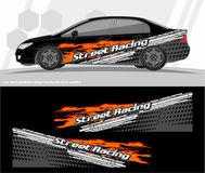 Car and vehicles wrap decal Graphics Kit vector designs. ready to print and cut for vinyl stickers. Professional Modern Car Bike Vehicle Graphics, Vinyls wrap Stock Photo
