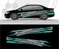 Car and vehicles wrap decal Graphics Kit vector designs. ready to print and cut for vinyl stickers. Professional Modern Car Bike Vehicle Graphics, Vinyls wrap Royalty Free Stock Photo