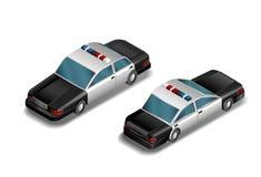 Car- Vektor der isometrischen Polizei Lizenzfreies Stockbild