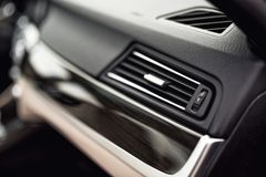 Car ventilation system with adjustment buttons and details of modern car Royalty Free Stock Photo
