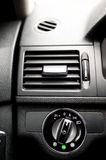 Car ventilation system and headlight adjustment Stock Images