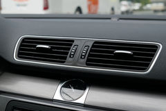 Car Ventilation Vent with Analog Watch Royalty Free Stock Photos