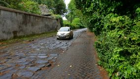 Car on Via Appia Antica, Rome Royalty Free Stock Images