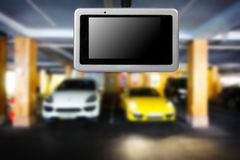 Car video recorder. Royalty Free Stock Photography