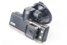 Car video recorder isolated on white Stock Images