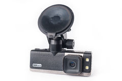Car video recorder isolated on white Stock Photos
