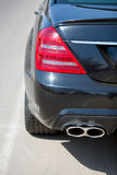 Car view from the back. Black luxury Car view from the back Stock Image