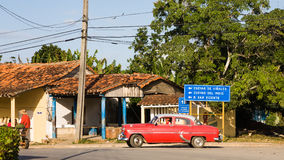 Car in Vinales, Cuba Royalty Free Stock Image