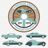 Car Vintage Logo for Your logo - retro logo best for your logo c Stock Photography