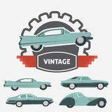 Car Vintage Logo for Your logo - retro logo best for your logo c Royalty Free Stock Photography