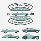 Car Vintage Logo for Your logo - retro logo best for your logo c Royalty Free Stock Image